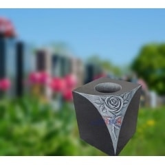 Cemetery Granite Flower Vase For